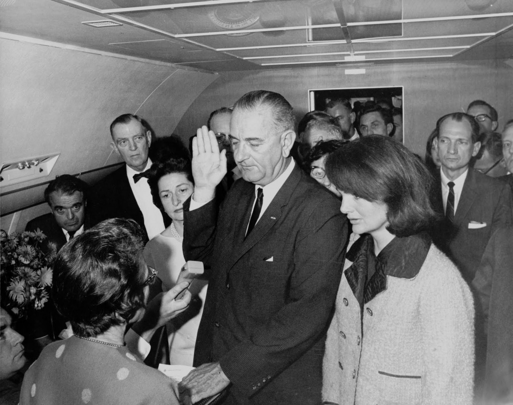 lbj999zk. Lyndon Johnson Being Sworn In (Large Version)